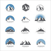 Mountain logo, icon