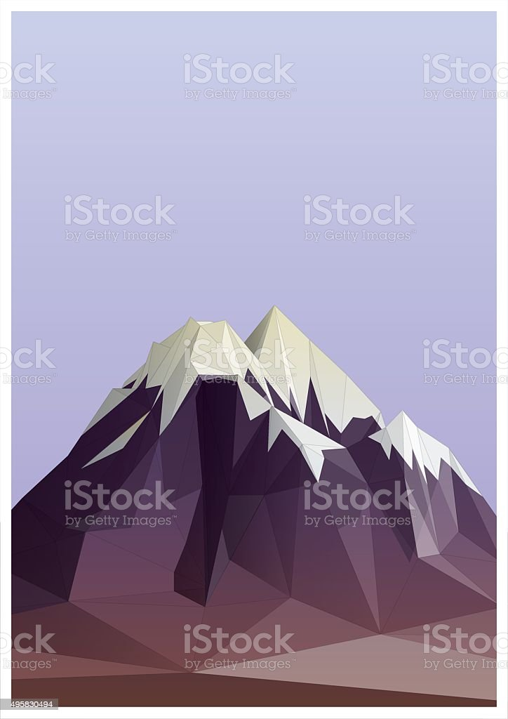 mountain low-poly style illustration vector art illustration