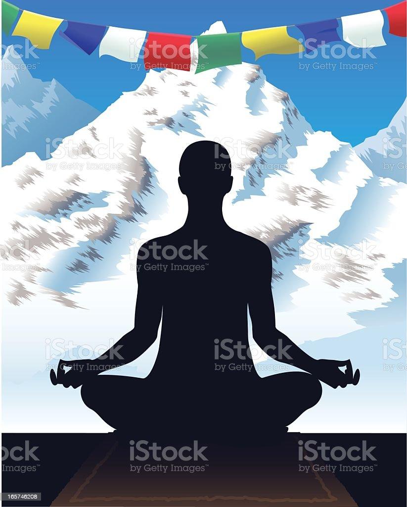 Mountain Meditation royalty-free stock vector art