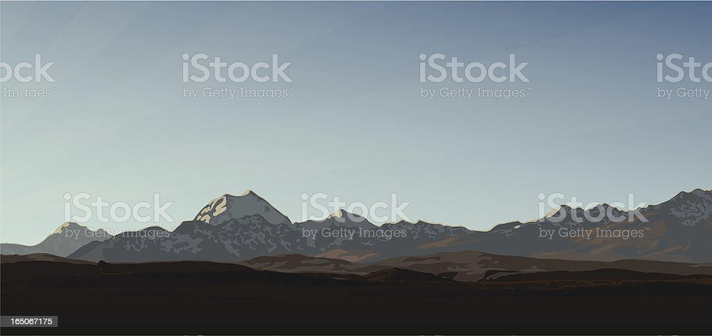 Mountain Panorama royalty-free stock vector art
