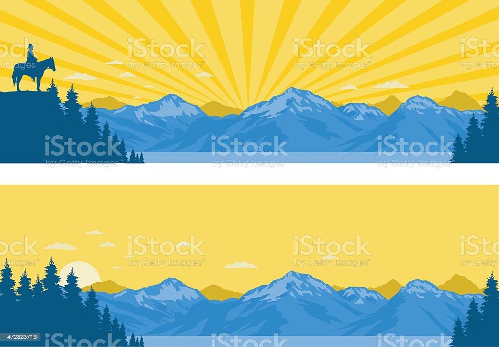 Mountain Panoramas vector art illustration
