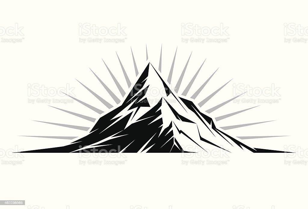 Mountain Peak vector art illustration