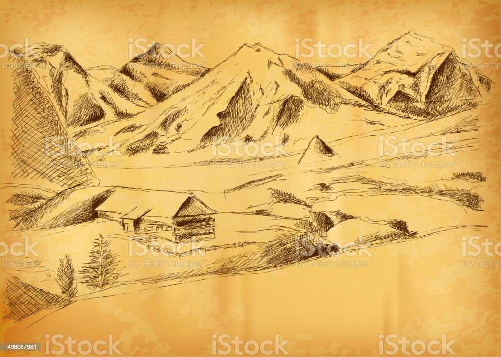 mountain picture royalty-free stock vector art