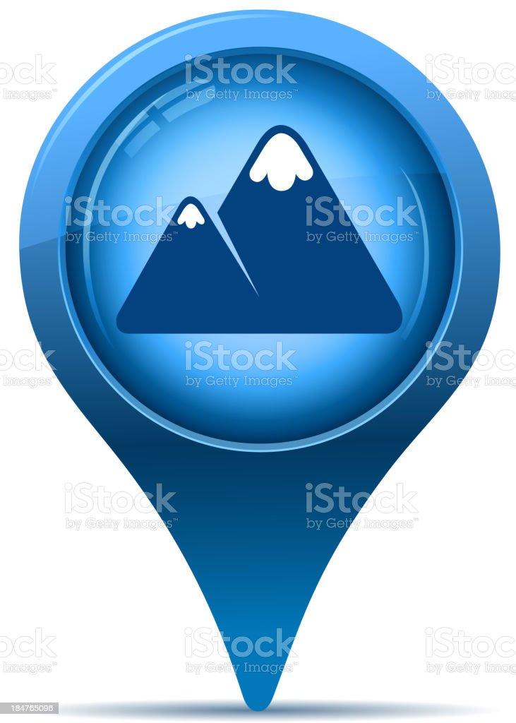 mountain pointer vector art illustration