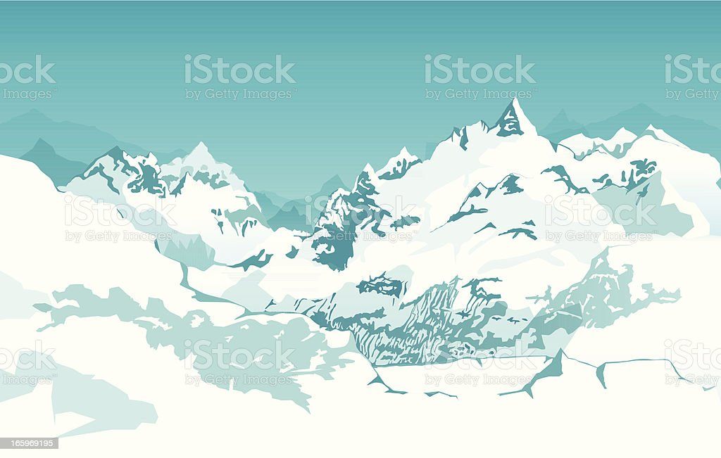 Mountain Range Background royalty-free stock vector art