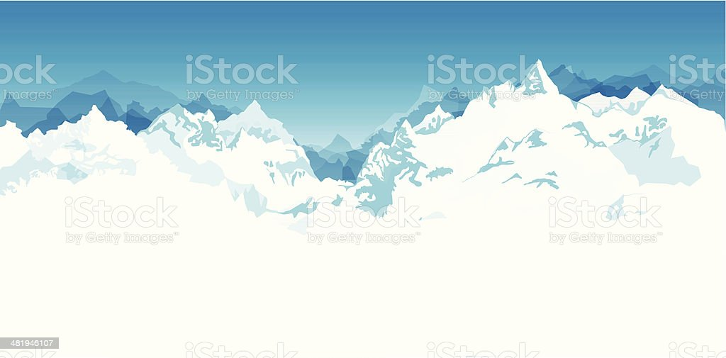 Mountain Range Background vector art illustration