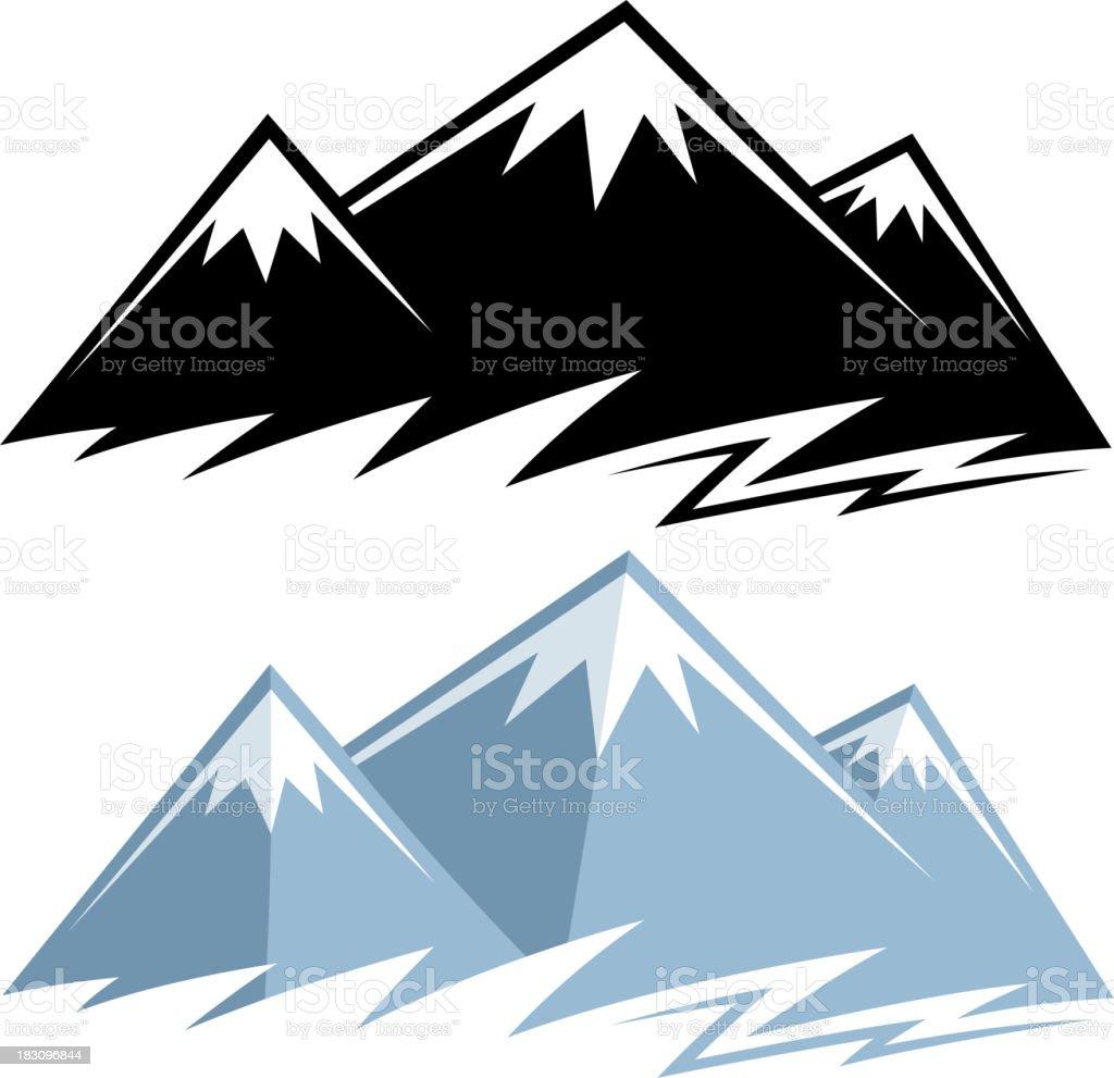 mountain range symbols royalty-free stock vector art