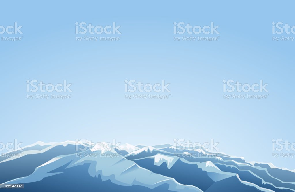mountain range view royalty-free stock vector art