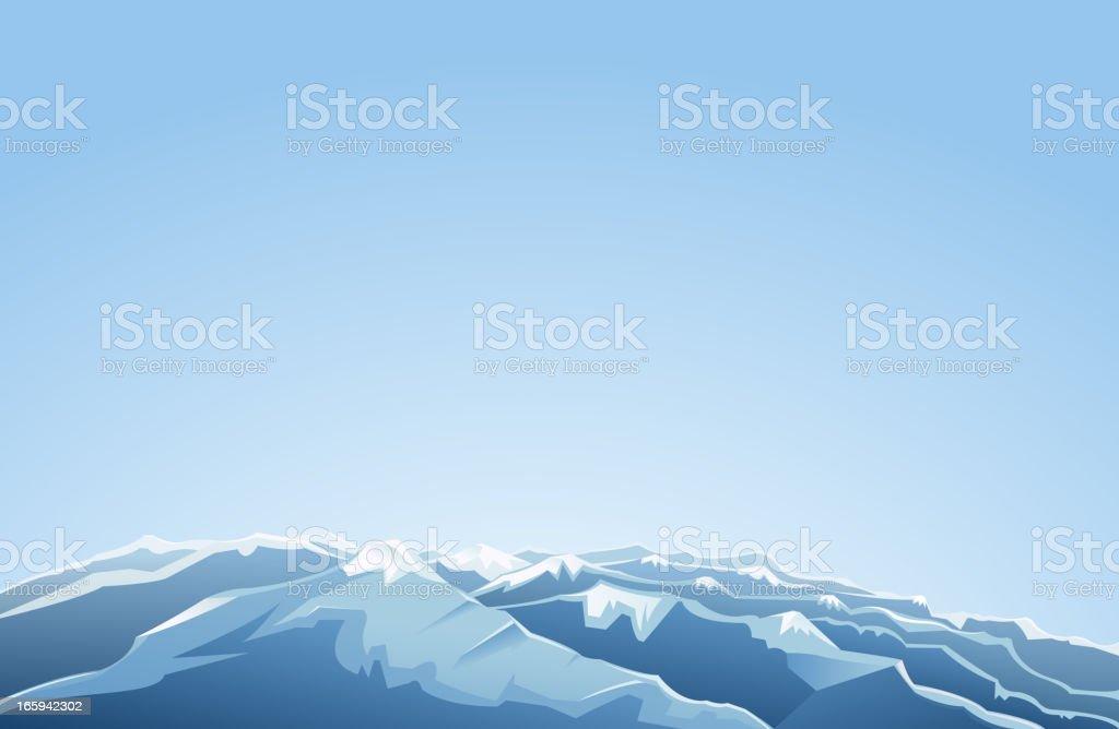 mountain range view vector art illustration