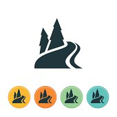 Mountain River Icon