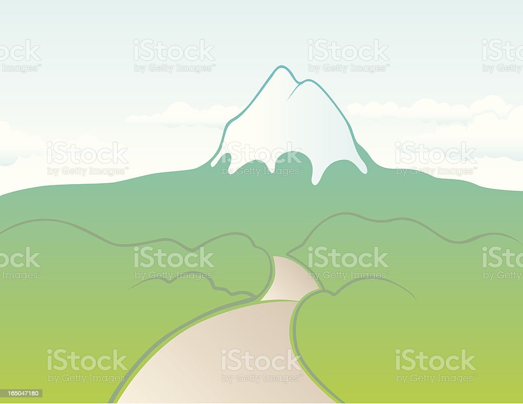 Mountain Road vector art illustration