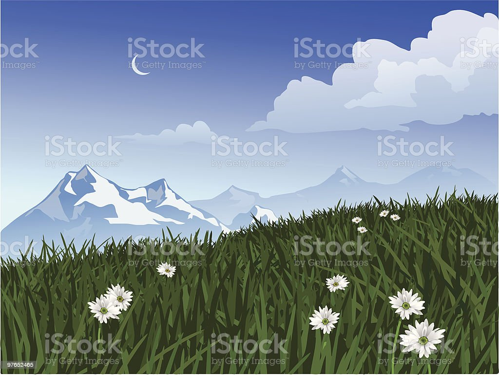 Mountain Scene royalty-free stock vector art