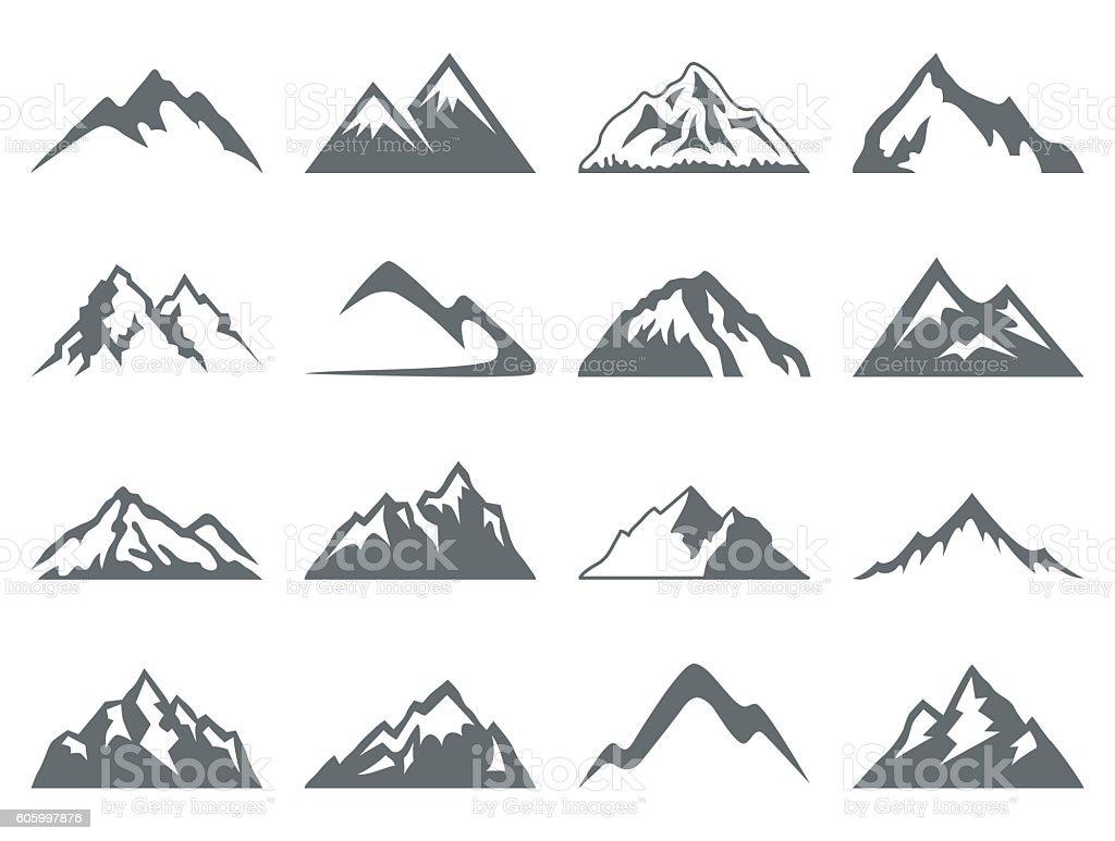Mountain Shapes For Logos vector art illustration