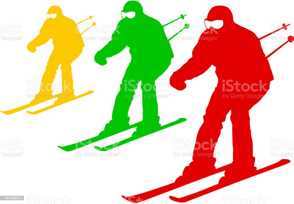 Mountain skier royalty-free stock vector art