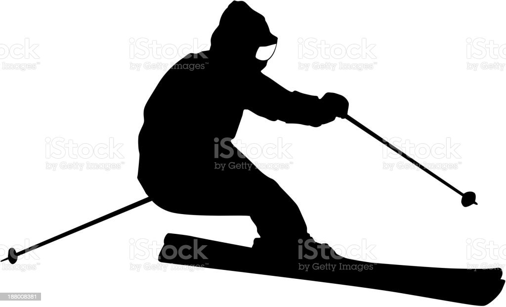 Mountain skier royalty-free stock vector art