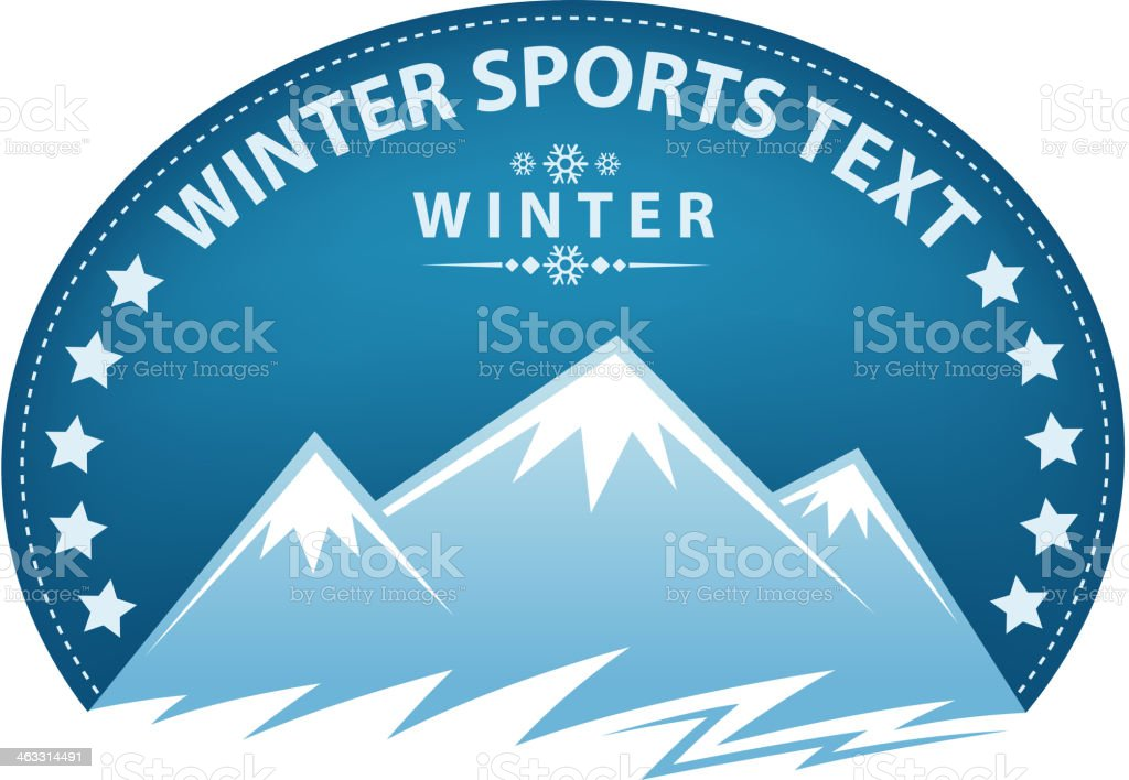 mountain sports label royalty-free stock vector art