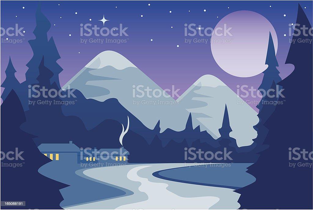 Mountain Stream (Evening) royalty-free stock vector art