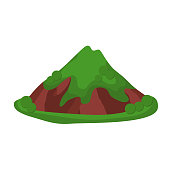 Mountain summer vector illustration isolated