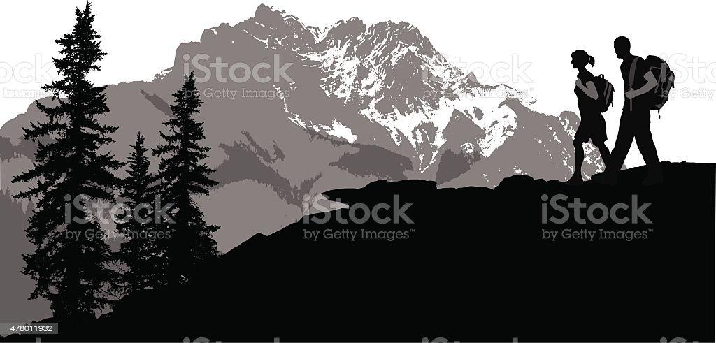 Mountain Top vector art illustration