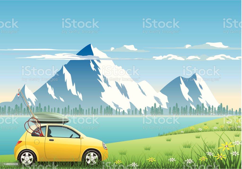 Mountain Vacations royalty-free stock vector art