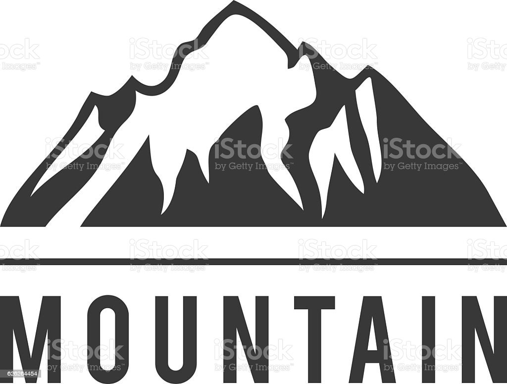 Mountain Vector Icon Badge stock vector art 626264454 | iStock