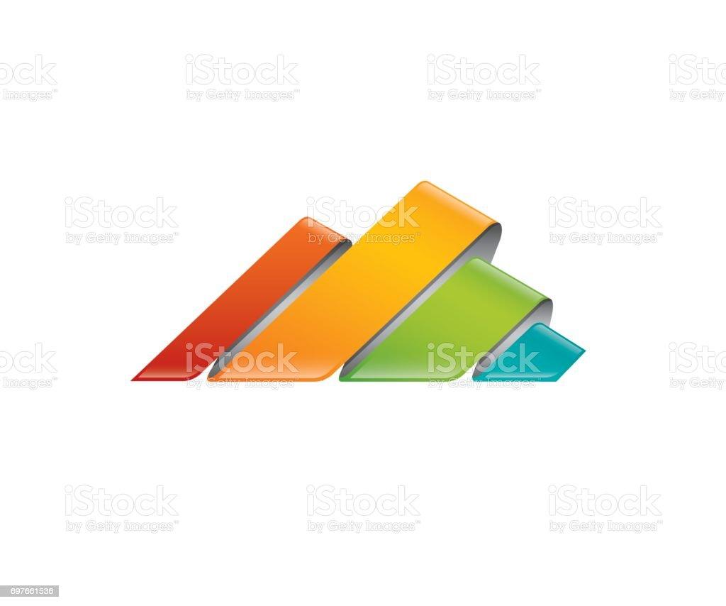 Mountain vector icon vector art illustration