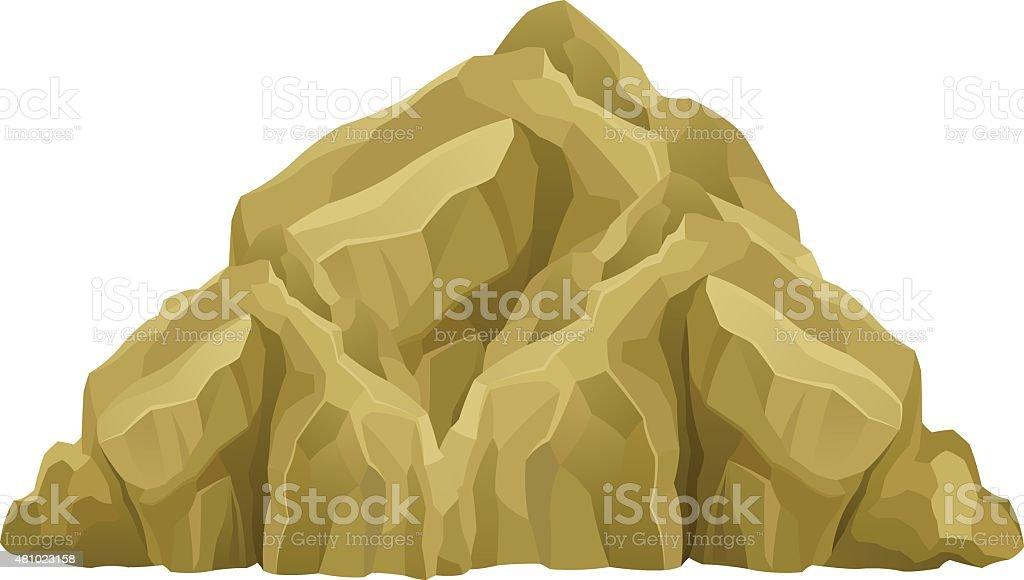 Mountain vector art illustration