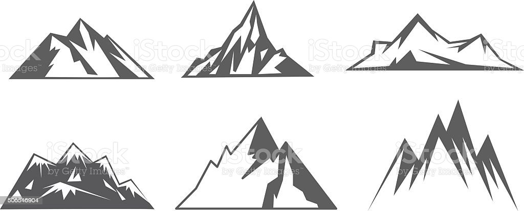 mountain vector art illustration