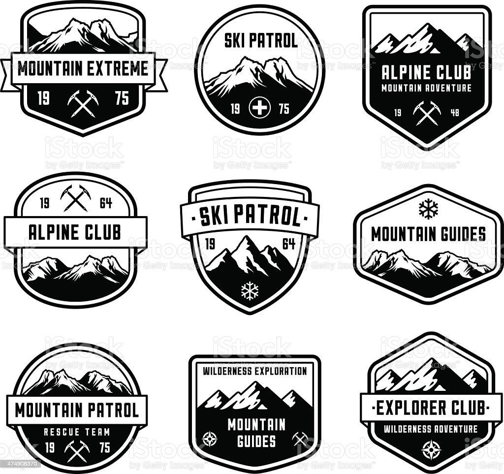 Mountain Vector insignias vector art illustration
