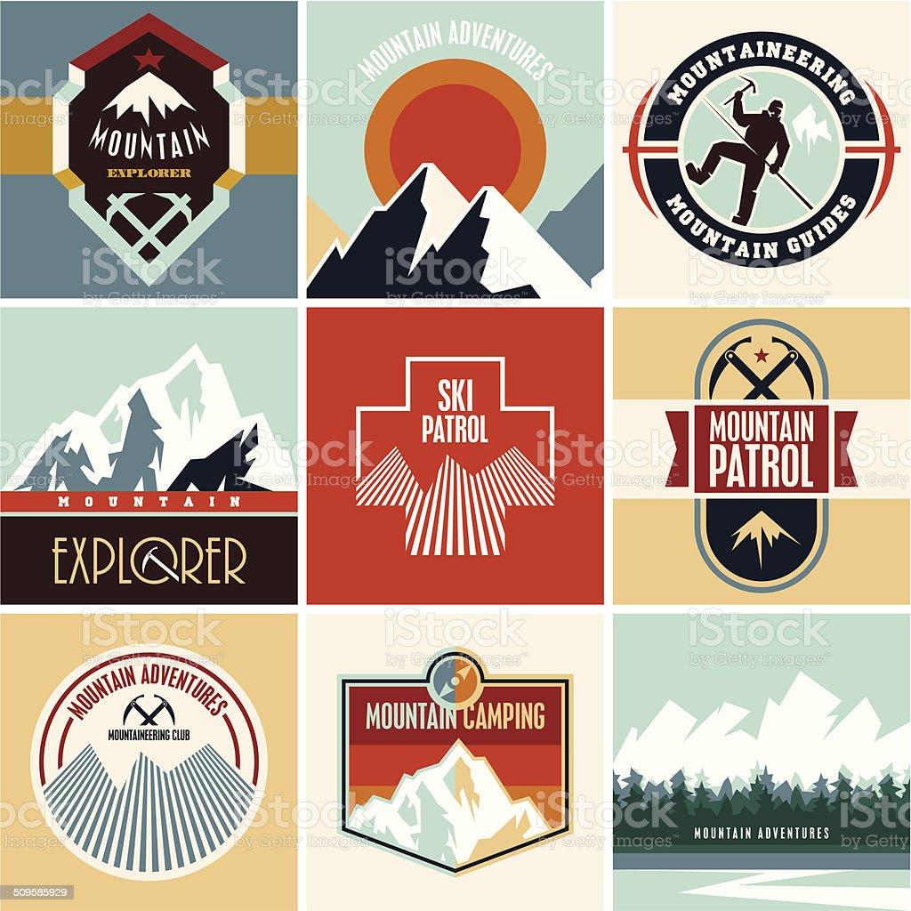 Mountain vector vector art illustration