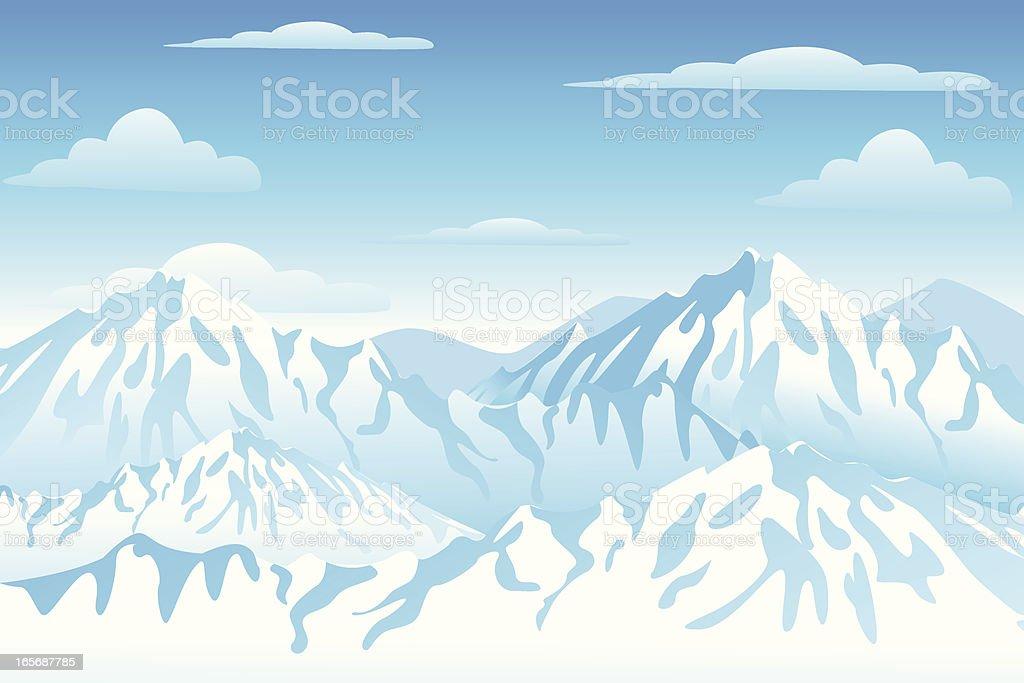 Mountain View vector art illustration