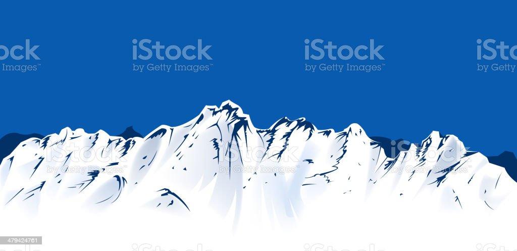 mountain view royalty-free stock vector art