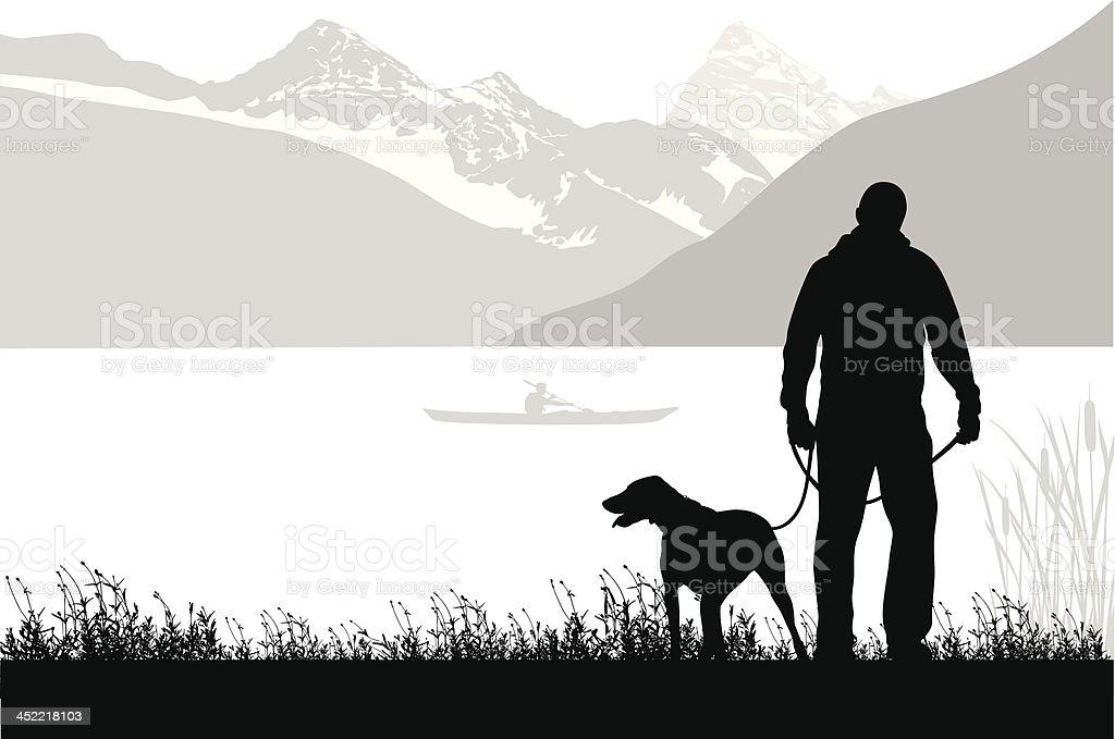Mountain Walk royalty-free stock vector art