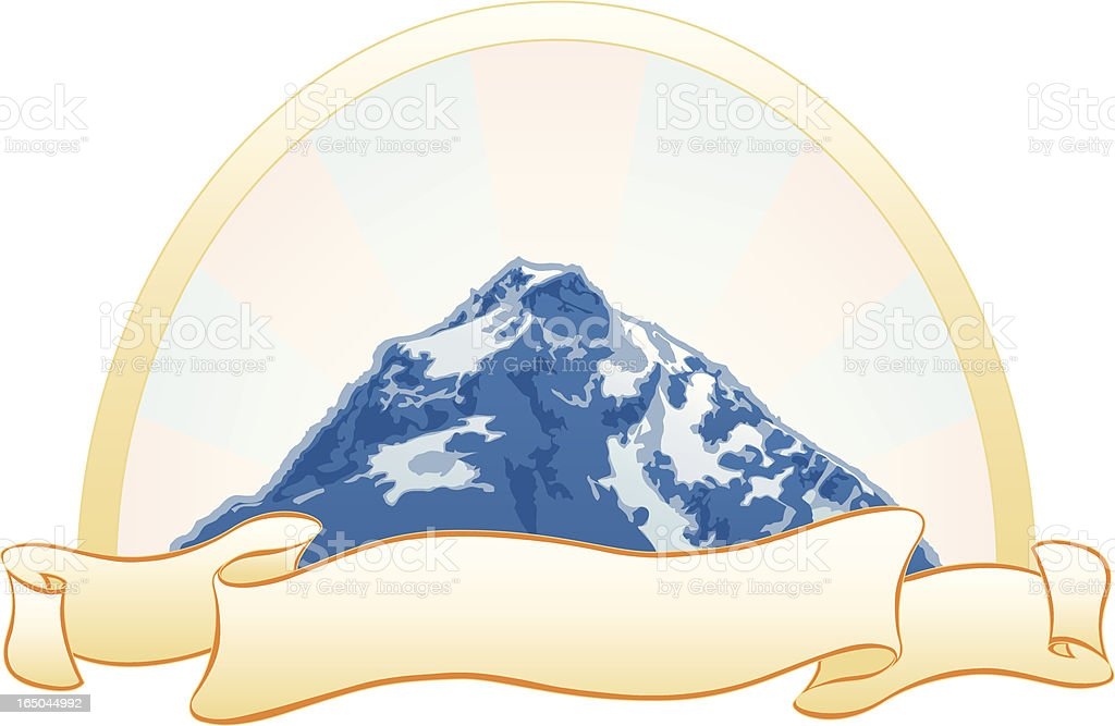Mountain with Scroll royalty-free stock vector art