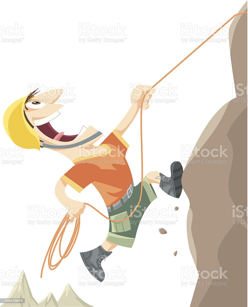 Mountaineer vector art illustration