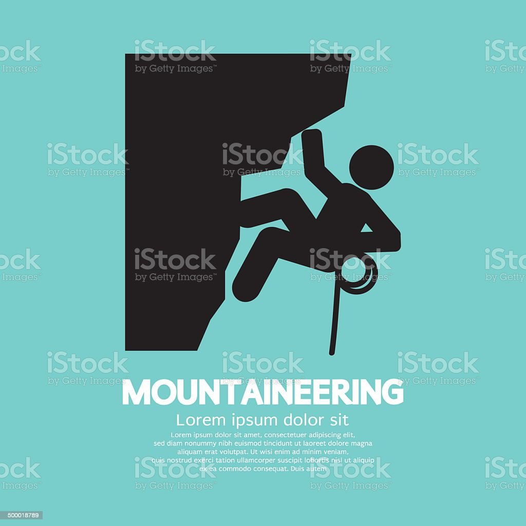 Mountaineering Graphic Symbol vector art illustration