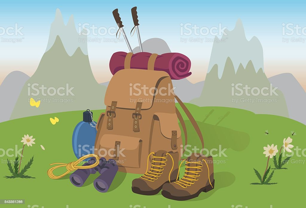 MountainEquipment vector art illustration