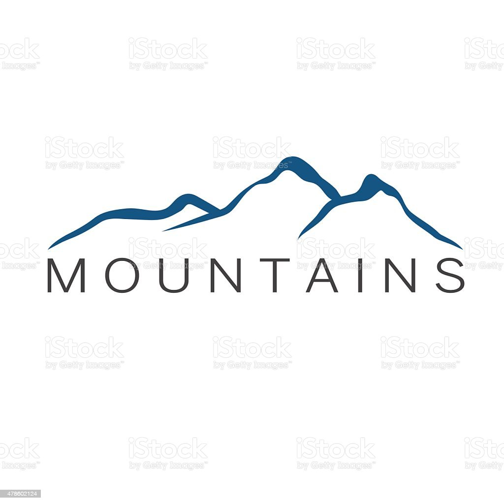 mountains abstract illustration vector art illustration