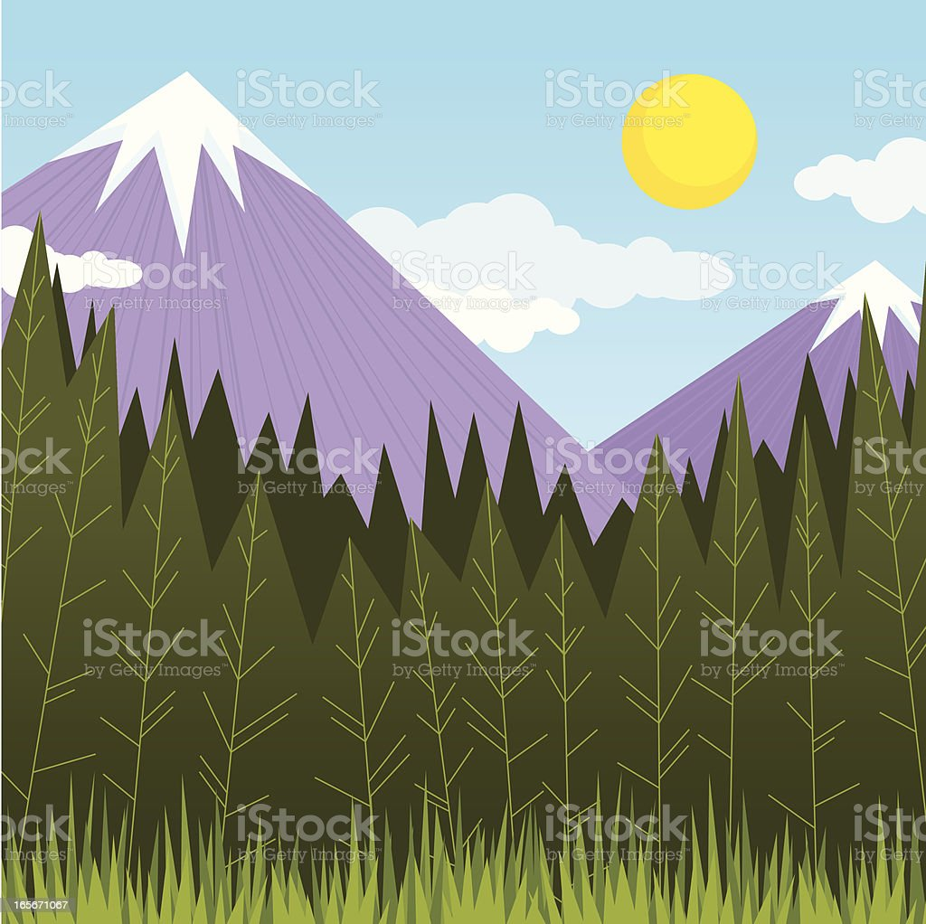 Mountains and Forest royalty-free stock vector art