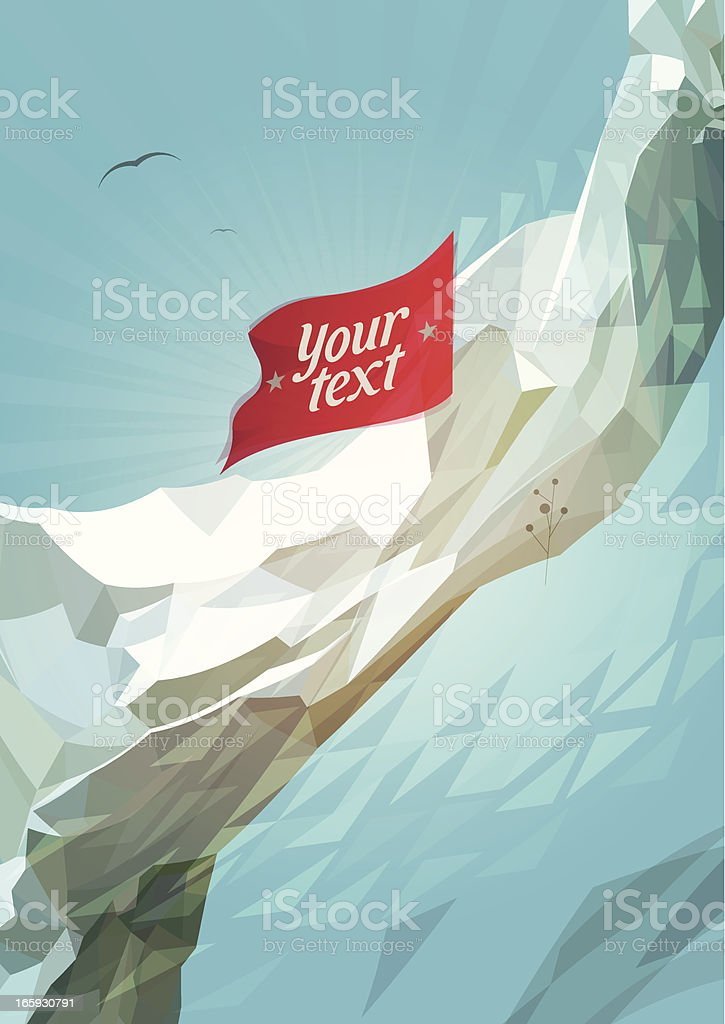 mountains flag background royalty-free stock vector art