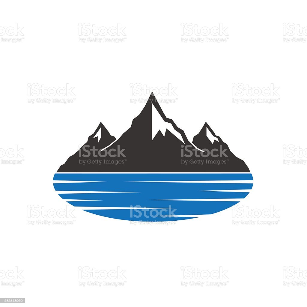 Mountains Lake vector art illustration