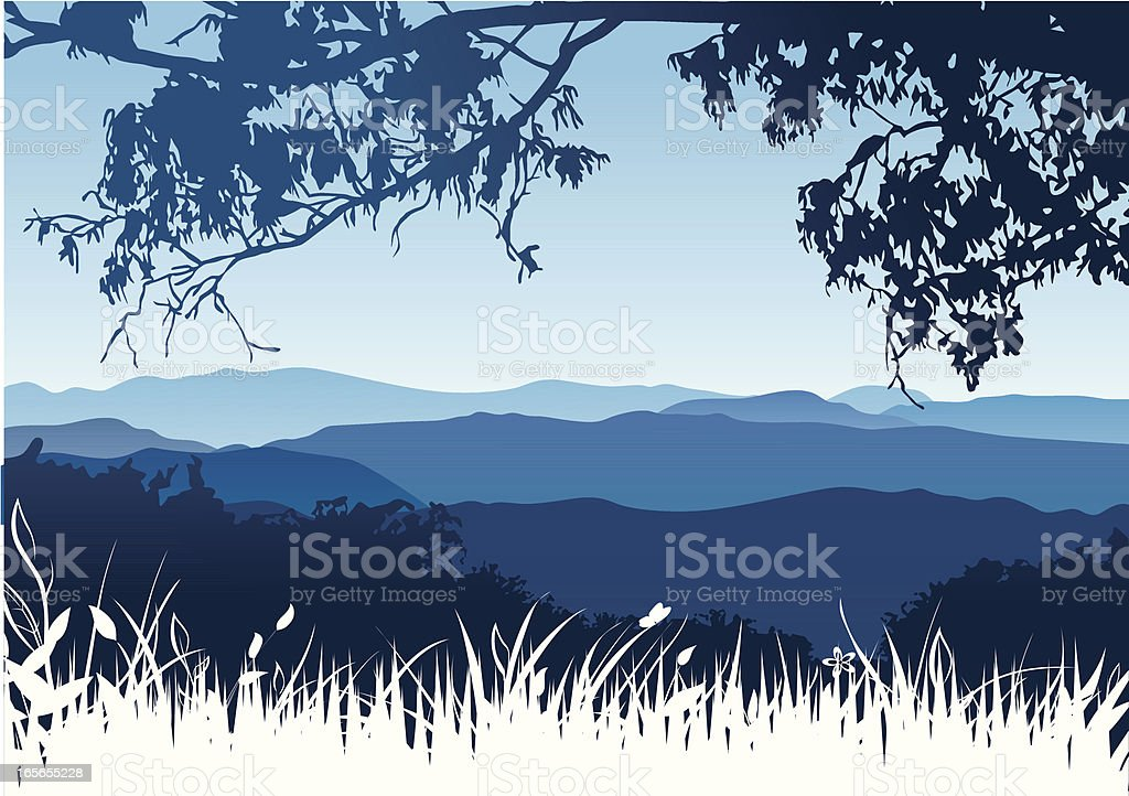 Mountains landscape royalty-free stock vector art