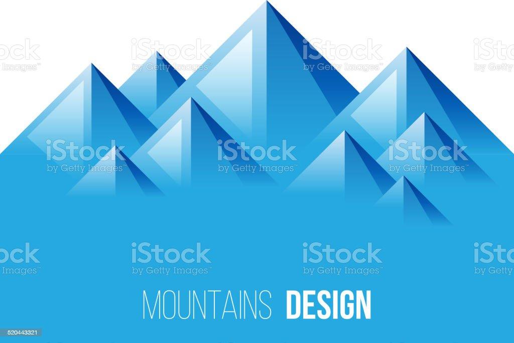 mountains landscape vector art illustration