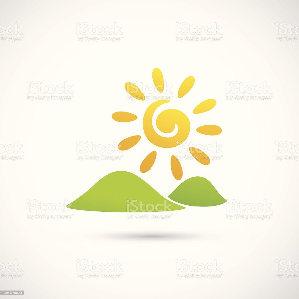 Mountains on the Sun royalty-free stock vector art