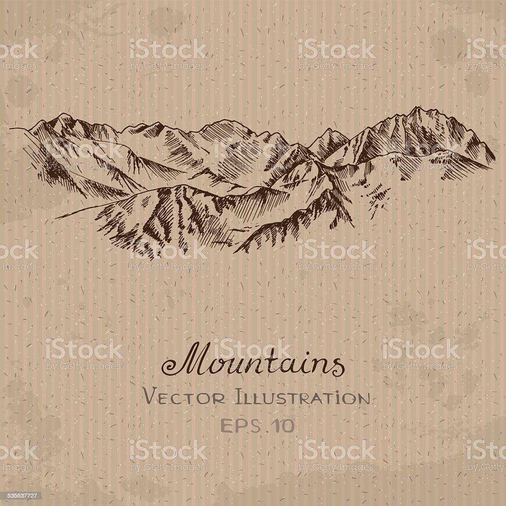 Mountains Ridge vector art illustration