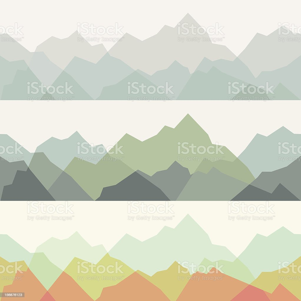Mountains - seamless pattern royalty-free stock vector art