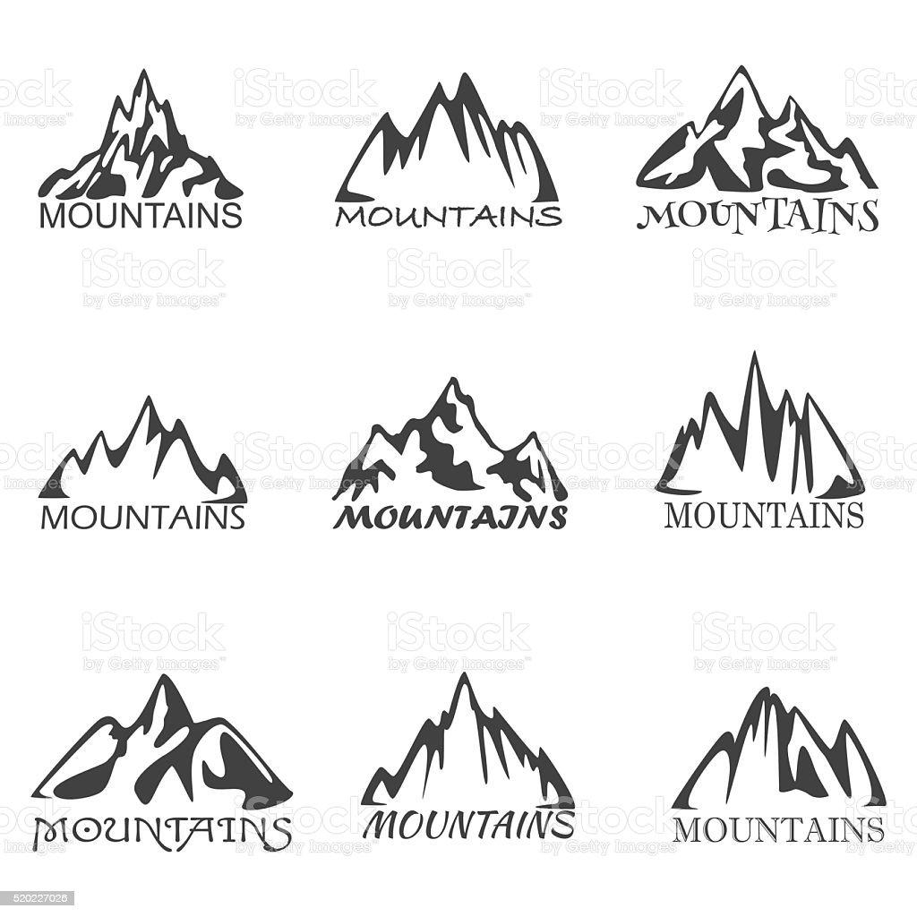 Mountian vector art illustration
