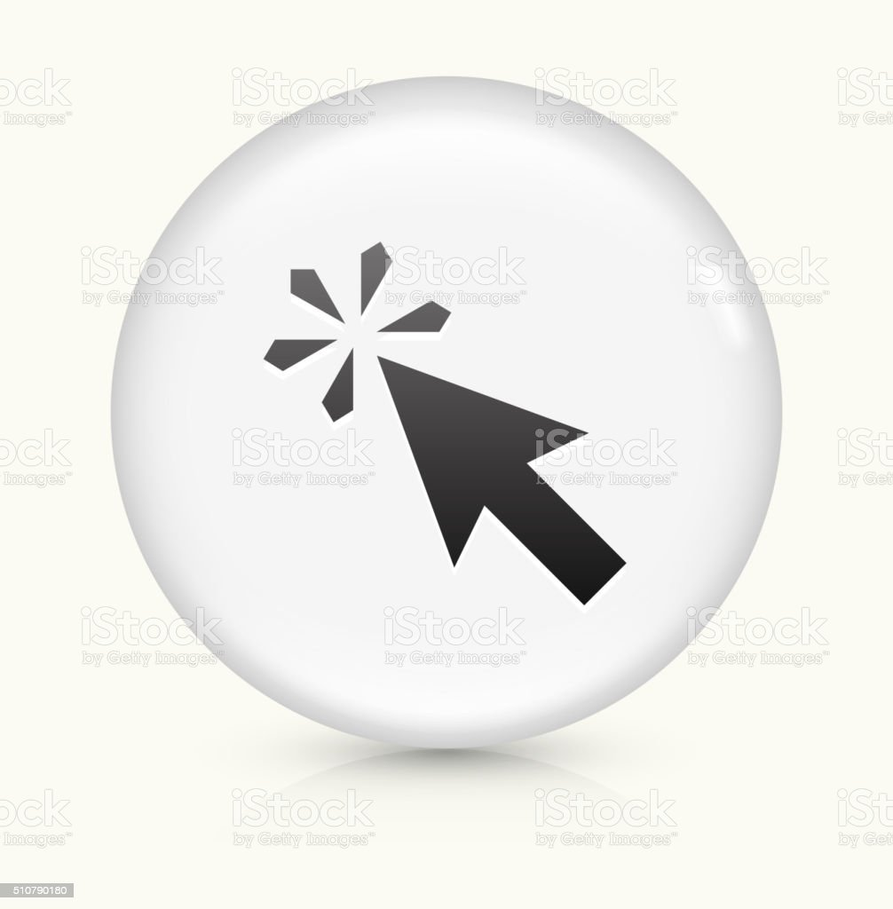 Mouse Click icon on white round vector button vector art illustration