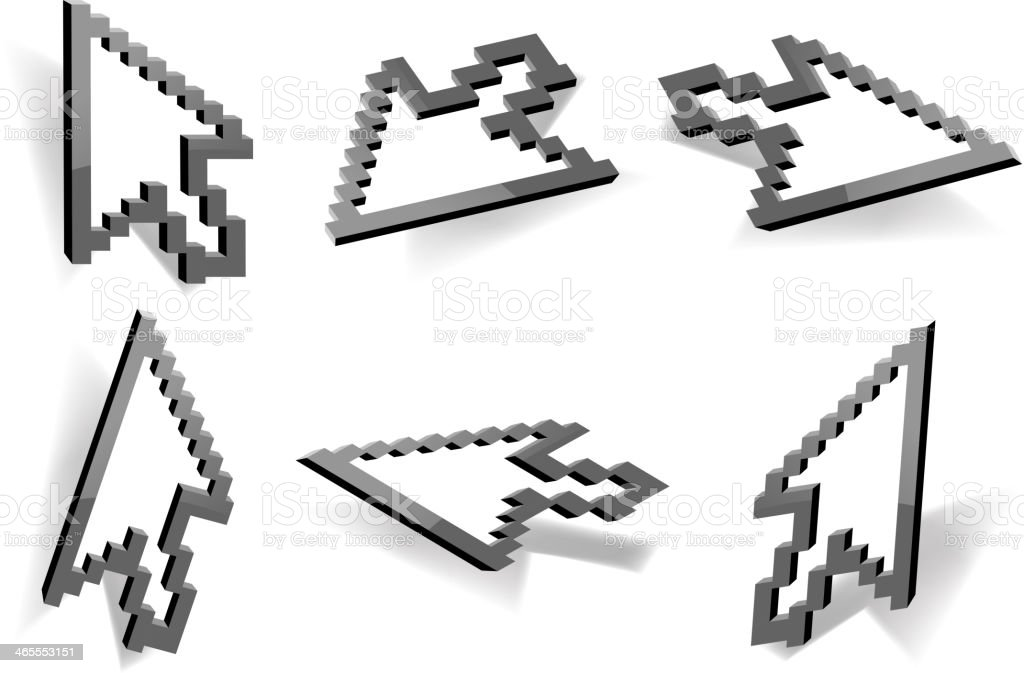 mouse cursor action royalty-free stock vector art