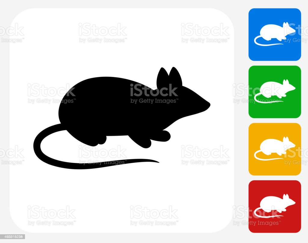 Mouse Icon Flat Graphic Design vector art illustration